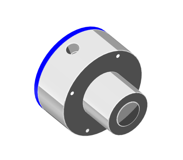 Spring return pneumatic cylinder