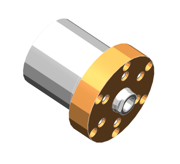Compact flange mounted hydraulic cylinders